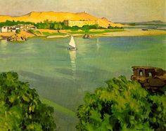 Paintings by Fauvist Albert Marquet Find more here and here . Raoul Dufy, Henri Matisse, Rio Sena, France Art, Art Van, European Paintings, Post Impressionism, Colorful Paintings, Beach Art