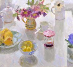 Lynne Cartlidge - Still Life with Helebores, Oil on linen, 60cm x 55cm