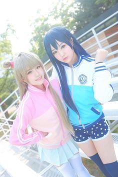 Love Live Umi Sonoda and Kotori Minami Cosplay Photo - WorldCosplay Kawaii Cosplay, Epic Cosplay, Cute Cosplay, Cosplay Girls, Cosplay Costumes, Anime Cosplay, Ichigo Cosplay, Awesome Cosplay, Kotori Minami Cosplay