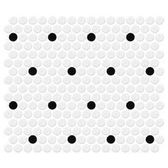 Retro Rounds Polka Dot Gloss Glazed Porcelain Mosaic Wall Tile.