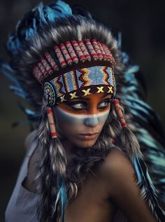 Native American Face Paint, Native American Tattoos, Native Tattoos, Native American Girls, Native American Images, Native American Beauty, American Indian Art, American Indians, Native Indian