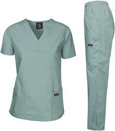 Dagacci Scrubs Medical Uniform Men Scrubs Set Medical Scrubs Top and Pants (Large, Petwer Gray) – Shopping Guide Scrubs Outfit, Scrubs Uniform, Men In Uniform, Scrubs Pattern, Stylish Scrubs, Best Uniforms, Safety Clothing, Medical Uniforms, Womens Scrubs