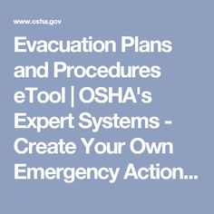 Evacuation Procedures  Emergency Planning