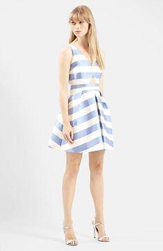 Topshop Stripe V-Neck Cutout Dress at Nordstrom.com. @nordstrom
