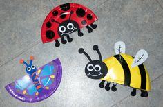 A bug theme completes are week of studying the letter B.   We made some paper plate bugs. I got this kit to make all three bugs at the Dolla...