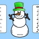 """""""Build"""" upon your students knowledge of notation with this fun activity!  Students will love playing this game on your interactive white board or computer.  Students can drag notes, rests, or duration onto each snowman to reinforce music literacy.  Several excerpts are included to apply knowledge of notation and counting as well!"""
