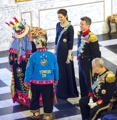 THE RECEPTION HH.RR.HH. Crown Princess Mary, Crown Prince Frederik and Prince Consot Henrik of Denmark