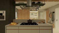 Projeto de churrasqueira a gás em apartamento. Autoria: Arquiteca Projetos Afetivos.