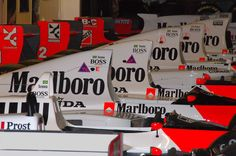 Senna's weapon's, please excuse the first car with Prost on it.