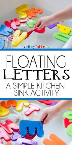 Floating Letters: A simple kitchen sink activity for toddlers and preschoolers; a quick and easy activity