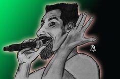 #drawing #illustration #рисунок #desenhando #zeichnung #menggambar #art #rock #man #dibujos #pendrawing #arte #heavymetal #serjtankian Heavy Rock, Heavy Metal, Rock And Roll, Drawings, Illustration, Instagram, Art, Art Background, Heavy Metal Music