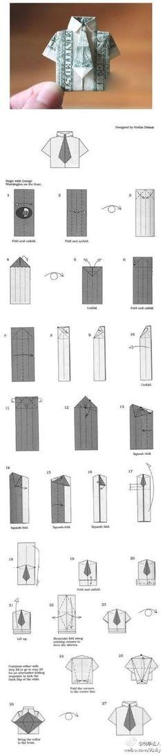 衬衫, Artesanato Origami for Kids, Patterns Printable livre Origami, Tutorial, artesanato, artesanato de papel, atividades imprimíveis dos miúdos, bonito do origami, kawaii, ofícios de papel, diy, do papel do origami para crianças, camisa, dinheiro por Divonsir Borges