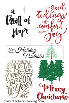 Free Holiday Printable - Ever Evolving