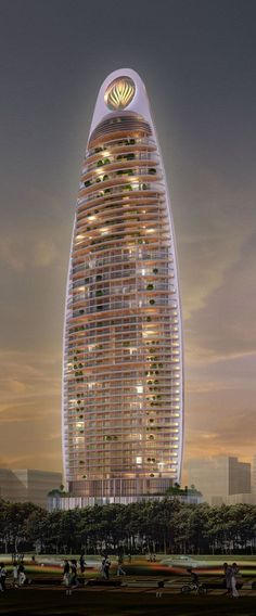 Eon Tower, Mumbai, India by Architect Hafeez Contractor :: 61 floors, height 230m