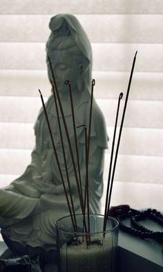 Kwan Yin & incense