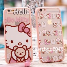 Cute pink bow hello kitty melody soft case cover for apple iphone6 plus 5S+gift #UnbrandedGeneric