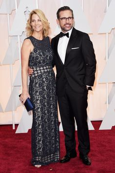 "Oscars Red Carpet Fashion 2015: Best and Worst Dressed - Business Insider - ""Foxcatcher"" best actor nominee Steve Carell with wife Nancy Carell. - 2015"