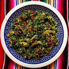 Quinoa con champignons e spinacini freschi  #vegan #glutenfree