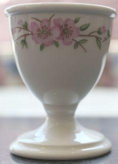 Porcelaine de Paris, Paris Porcelain, Hand Painted Pink Blossom Egg Cup