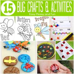 15 Bug Crafts and Activities - Easy Peasy and Fun