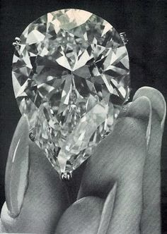 Pear diamond 42 carat Burton-Taylor diamond given to her by Richard Burton in 1969, one of the most famous Jewels in History.