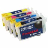 EDIBLE INKS for Epson T-069 set of 4 with Auto-Restting Chips, REFILLABLE - EDIBLE INKS for Epson T-069 set of 4 with Auto-Restting Chips, REFILLABLE   FDA Approved Made in USA REFILLABLE AUTO-RESETTING CHIPS INCLUDED  T-069 black, cyan, yellow, magenta set of 4 Edible Ink Cartridges with Auto-Resetting Chip Included. Compatible with Epson models; C80,88, Workforce... - http://christmaswishlistideas.com/edible-inks-for-epson-t-069-set-of-4-with-auto-restting-chips-refillable/