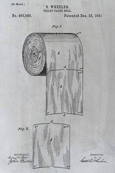 Vessapaperirullan vuonna 1891 patentoinut newyorkilainen Seth Wheeler kuvaa, että vessapaperin pään tulee asettua rullan päälle. Näin paperia on helpompi vetää.