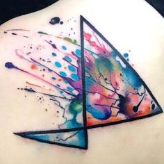 Abstract Watercolor Tattoo Idea