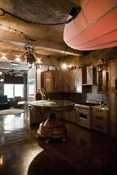 Steampunk kitchen on pinterest steampunk gears and for Kitchen designs steampunk
