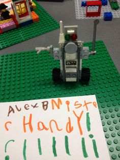 Lego robot!   Let me make one thing clear right up front: I am not claiming responsibility for the idea of Lego Club. No, Lego Club has be...