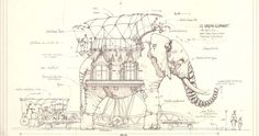 Sketches of the elephant ride