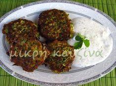 μικρή κουζίνα: Κολοκυθοκεφτέδες με σκορδάτη σάλτσα γιαουρτιού Tandoori Chicken, Appetizers, Beef, Ethnic Recipes, Food, Meat, Appetizer, Essen, Meals
