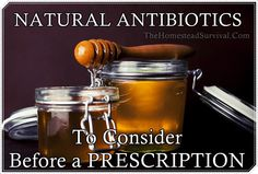 """NATURAL ANTIBIOTICS To Consider Before a PRESCRIPTION Homesteading  - The Homestead Survival .Com     """"Please Share This Pin"""""""
