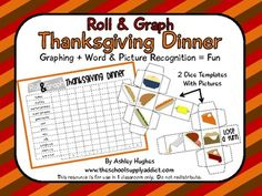 This 7 page PDF contains a Thanksgiving version of the game I have my EFL students play frequently: Roll & Graph. I use this mainly for vocabulary building, but you can also use it to focus on graphing or as an additional activity for your Thanksgiving festivities!  Students roll the two dice, identify the pictures, then graph their roll on a recording sheet.