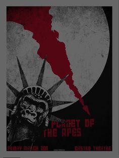 Planet of the apes alternative silkscreen movie poster