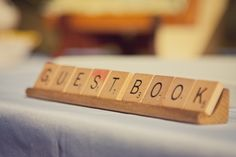 To label the guestbook, programs, gift table, etc. Put them with centerpieces on tables...