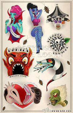 Beetlejuice tattoos