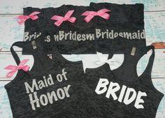 Bridesmaid. 11 Bridal Tank Top. Maid of by strongconfidentYOU, $264.00