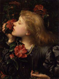 画家:ジョージ・フレデリック・ワッツ タイトル:選択 (エレン・テリーの肖像) 製作年:1864