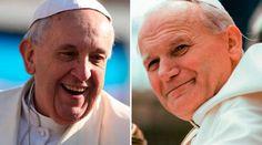 El Papa Francisco y San Juan Pablo II / Fotos: Daniel Ibáñez (ACI Prensa) - L'Osservatore Romano