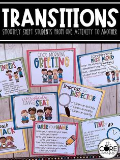 Classroom TRANSITIONS are routines that are used regularly as a way to smoothly shift students from one activity to another in an effort to save valuable instructional time. Efficient transitions are an important part of quality classroom management and can positively influence your classroom culture.