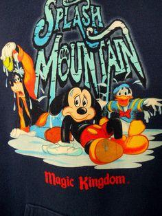 Disney Splash Mountain Hoodie Sweatshirt Blue Med. Mickey Donald Goofy Magic #Disney #Hoodie