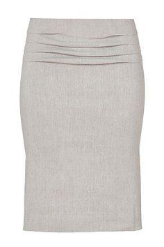 Hemp Linen Blend Pencil Skirt  by Donna Karan