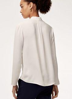 e68dda9c7d45 AKIRA BLOUSE | Aritzia Blazer Dress, Shirt Dress, Blouse, Work Wear, Fabric
