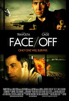 Face/Off Movie Poster awesome movie with john travolta and nicholas cage...i found john travolta played this part great and was surprised