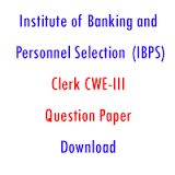 FREE Study materials For Competitive Exams: IBPS Clerk Online Exam Paper - 2016