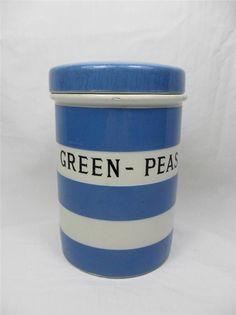 T.G.Green Cornish Ware 'Green-Peas' caddy
