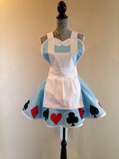 Alice au pays des merveilles - Alice tablier - tablier de femmes - costume tablier - cosplay costumes - tablier de cuisine Vintage