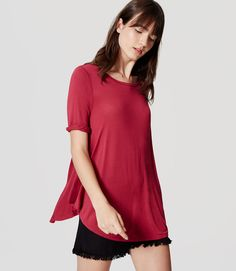 Primary Image of Petite Swing Tee Petite Sweaters, Girly, Tunic Tops, Tees, Outfits, Shopping, Flow, Stylish, Women