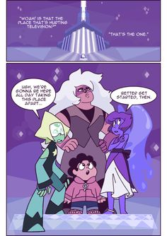 and they spent that whole day smashing stuff and dodging awkward questions Steven Universe Mom, Steven Universe Wallpaper, Lapidot, Barbie, Cartoon Tv Shows, 90s Cartoons, Universe Art, Drawing Reference Poses, My Hero Academia Manga